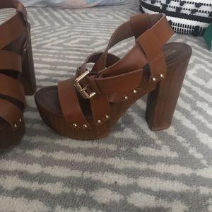 none Shoes - CAMEL MOSSIMO PLATFORM HEELS BOHO STYLE